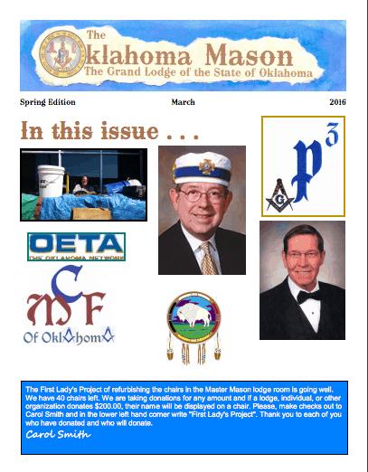 The Oklahoma Mason Magazine – Spring 2016 – Grand Lodge Electronic Edition