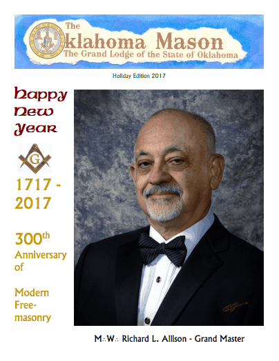 The Oklahoma Mason Magazine – Holiday Edition 2017 – Grand Lodge Electronic Edition