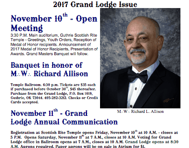 The Oklahoma Mason Magazine – Fall Edition 2017 – Grand Lodge Electronic Edition