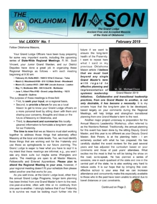 The Oklahoma Mason Magazine – Feb 2019