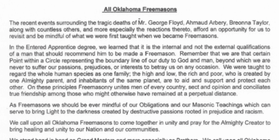 Oklahoma Grand Master's Joint Statement
