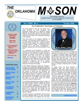 October 2020 Oklahoma Mason Magazine