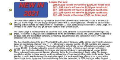 Rules for 2021 Grand Lodge Fundraiser