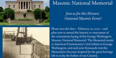 2023 George Washington Memorial Cornerstone